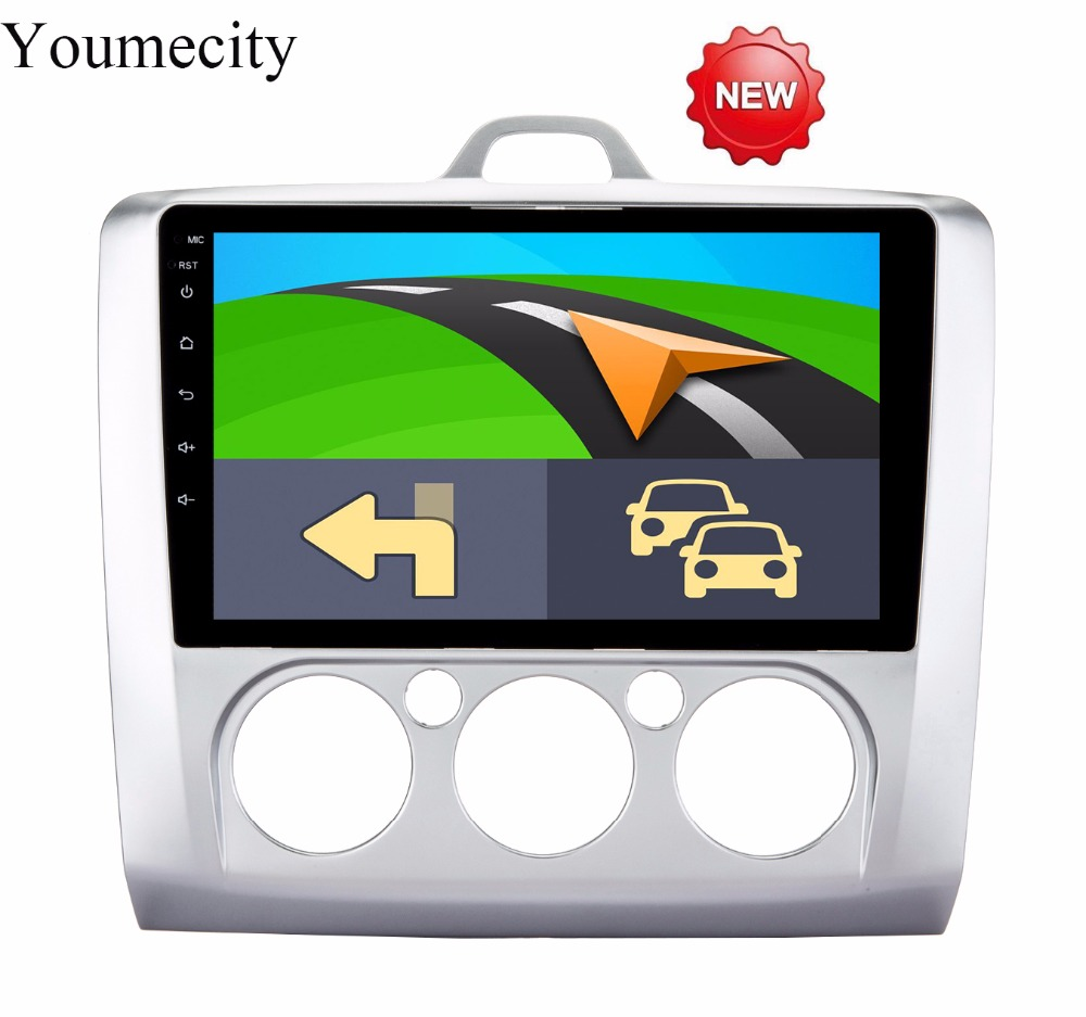 Youmecity/NEW!2G RAM+9 inch Android 8.1 Car dvd Video GPS Player For Ford focus 2006-2011 Screen 1024 *600+wifi+4G+BT+Radio+RDS youmecity car dvd player gps navi for honda crv 2007 2011 ips capacitive screen 1024 600 wifi bt swc rds android 8 1 2g ram