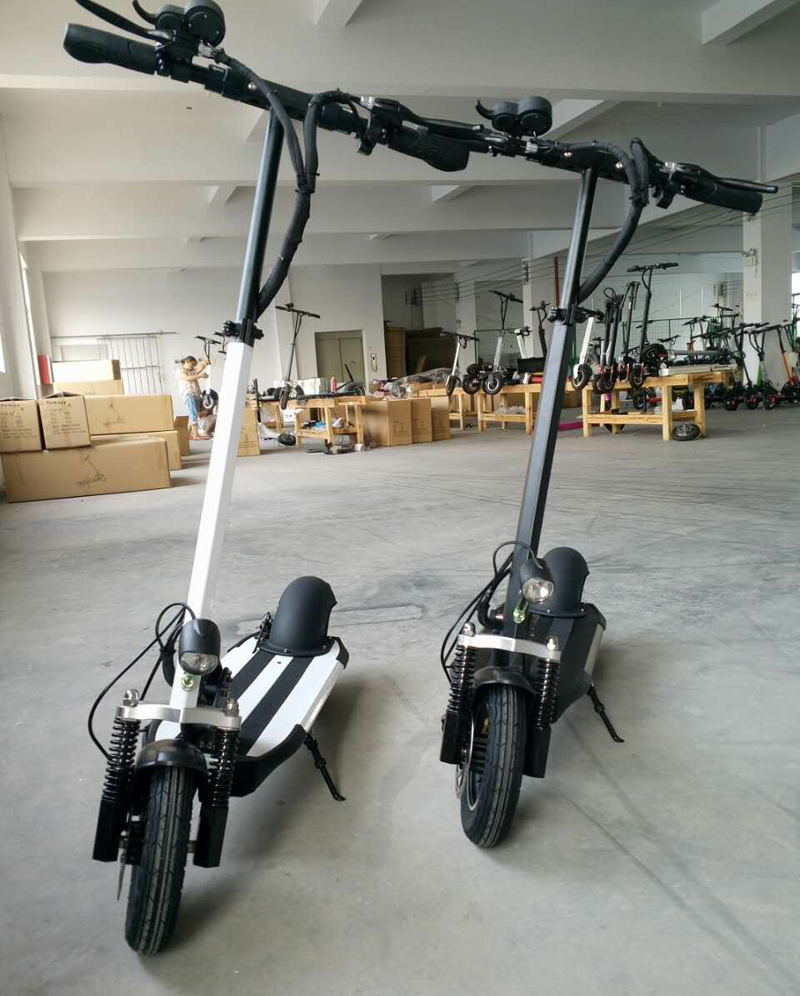 2016 500W Powerful Two Wheel Mini Foldable Electric Scooter 48V 15.6A Lithium E-Bike Disc Brake 10 inch wheel E-Scooter