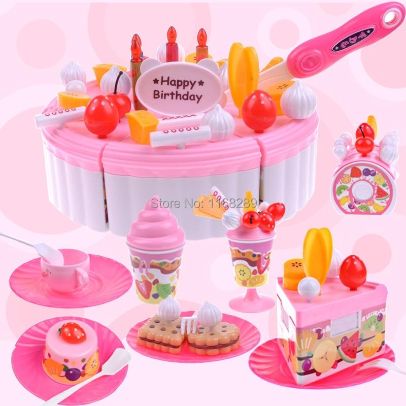 Phenomenal Free Shipping Colorful Fruit Birthday Cake Games Girl Set Triangle Funny Birthday Cards Online Hendilapandamsfinfo