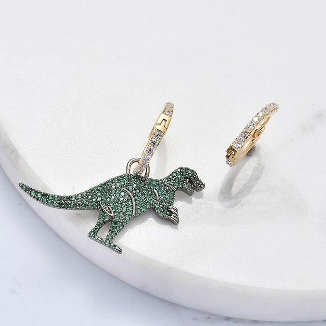 Cute Dinosaur New Fashion Simple Metal Drop Earrings For Women Lovers Ear jewelry Gift Accessories Dangle 10