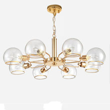 LOFT Industrial Chandeliers Globe Glass Lights Modern Minimalistic Design Chandelier Hanging in Living Room Restaurant Lamps(China)