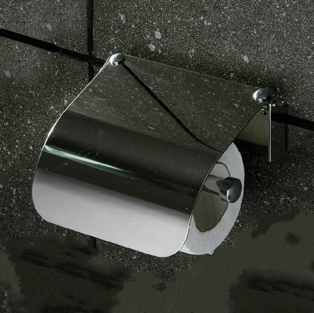 Modern Silver Toilet Paper Holder Box 304 Stainless Steel Chrome