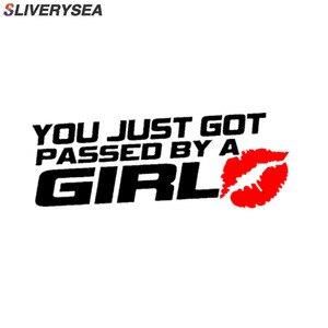 Image 1 - Sliverysea 당신은 그냥 여자에 의해 통과 재미 있은 비닐 자동차 스티커 경고 로그인 데칼 자동차 스타일링 # b1400