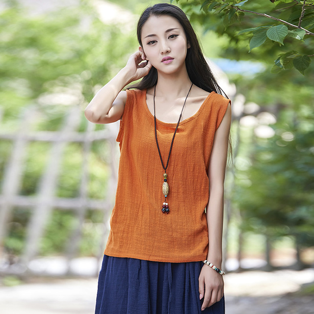 9 Candy Color Solid Cotton Linen Women Tank Top Summer Casual Sleeveless Camisole Vest Kawaii Slim Cute Tanks Tops Camis B076