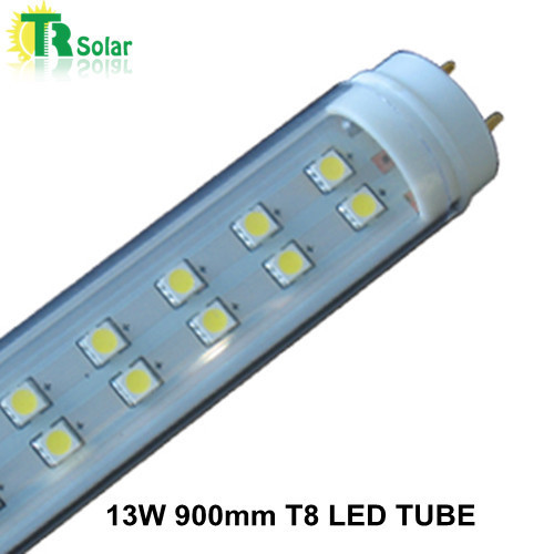 25pcs/lot free shipping LED tube T8 G13 13W 900mm white cover wholesale two years warranty CE Rohs SMD2835 60pcs LED Tube