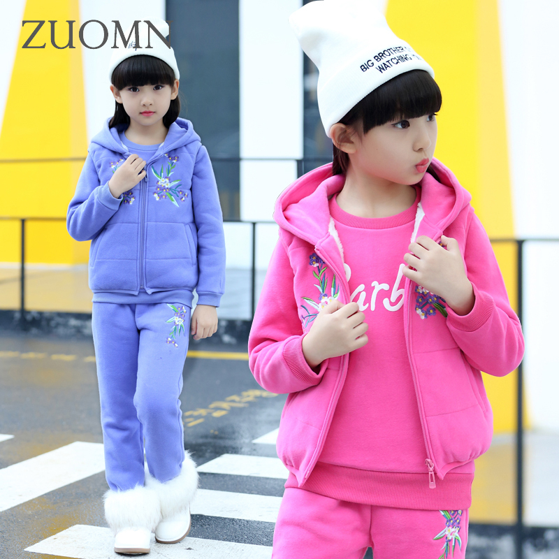 где купить Girls School Sets Teens Sportwear for Girls Children's Winter Coat Kids Suits Tracksuit Clothing Girls Warm Pants GH277 по лучшей цене