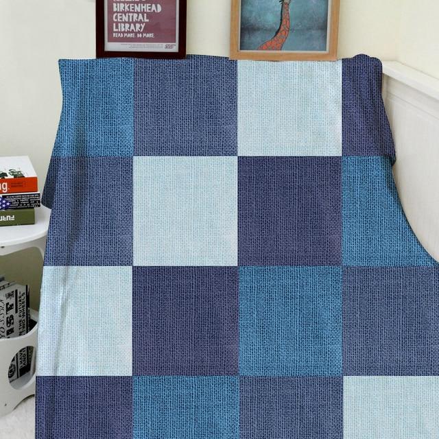 Manta a cuadros una manta Mantas Calidez Felpa Suave Tela patrón de ...