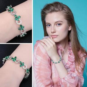 Image 4 - JewelryPalace פרפר צורת 6.8ct נוצר אמרלד טניס צמיד לנשים 925 סטרלינג תכשיטי כסף בסדר תכשיטי מתנה הטובה ביותר