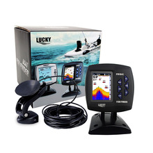 LUCKY FF918-C100DS Dual Frequency Boat Fish Finder Sonar Sounder Alarm 328ft/100m Water Depth Fishfinder