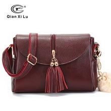 Brand Tassel Genuine Leather Tote Bags For Women Luxury Handbags Women Black Bags Designer Cowhide Shoulder Bag Ladies Sac