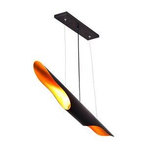 Image 2 - Nordic Eenvoudige Stijlvolle Restaurant Bamboe Pedant Lamp Persoonlijkheid Creatieve Koffie Bar Aluminium Buis Vliegtuigen Hanglamp E27