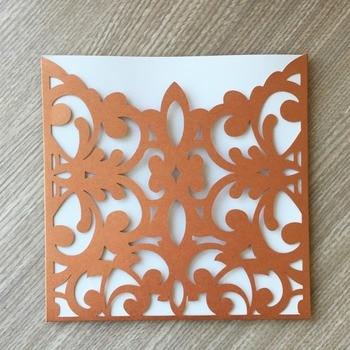 100pcs/lot Creative Pocket Design Flower Pattern Birthday Party Invitations Wedding Card Event Banquet Supplies
