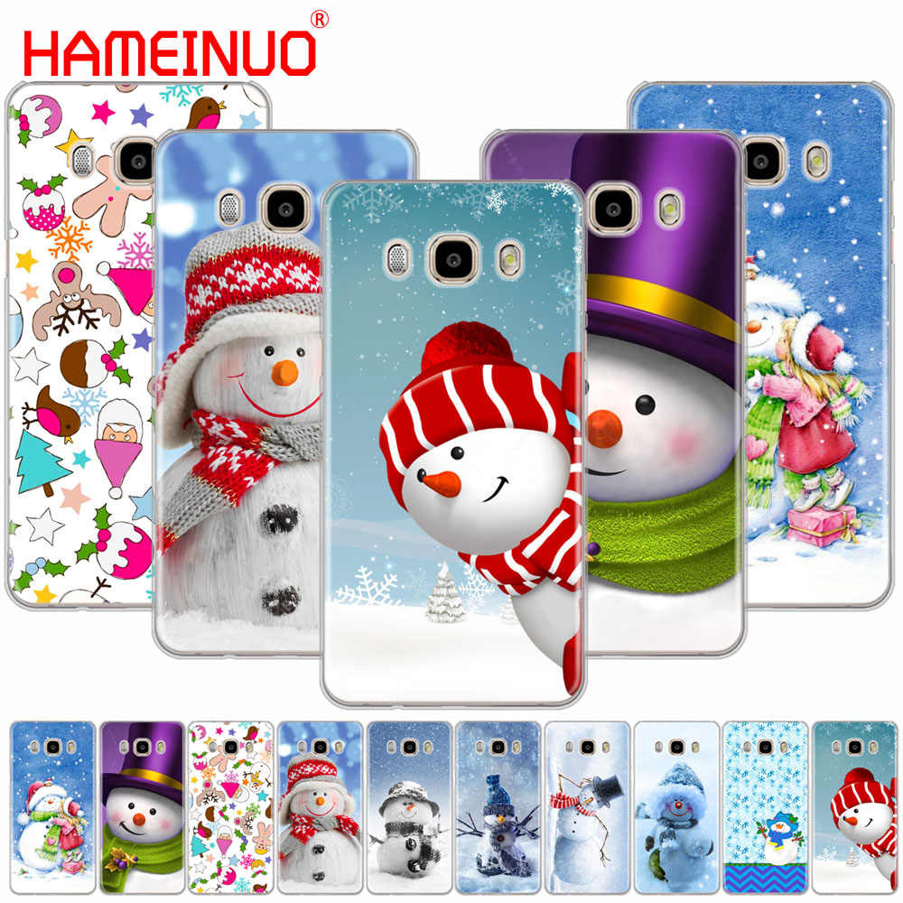 HAMEINUO Christmas Cute snowman snowflake cover phone case for Samsung Galaxy J1 J2 J3 J5 J7 MINI ACE 2016 2015 prime