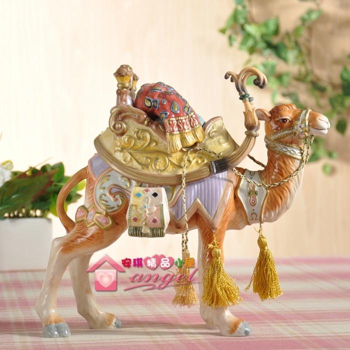 Европа керамический верблюд статуя Home Decor ремесел украшения комнаты старинных украшений фарфоровые фигурки животных Свадебные украшения