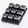 9 шт., хромированный переключатель стеклоподъемника для A6 S6 C7 A7 A8 Q3 4GD959855 8KD959855 4GD 959 855