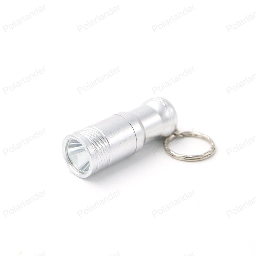 DEL Mini Lampe de Poche avec Porte Clé-En alliage d/'aluminium pour