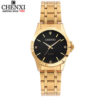 Top Fashion Brand Luxury CHENXI Watches Women Golden Watch Casual Quartz Wristwatch Waterproof Female Watch Clock