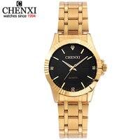 Top Fashion Brand Luxury CHENXI Watches Women Golden Watch Casual Quartz Wristwatch Waterproof Female Watch Clock