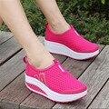 2017 Летние новые плоские туфли Женщин ленивый Дышащая обувь мода мокасины Полые увеличение Обувь большего размера 41 11
