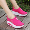 2017 Summer new flat shoes Women lazy Breathable shoes fashion loafers Hollow increased Shoes larger size 41 11