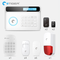 Etiger S4 2018 New Design PSTN GSM Autodial Home Security Alarm System+iOS App/ Android App Sensor Alarm Security System Home