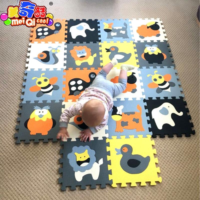 MEIQICOOL 30*30*1cm 9/18 Educational Baby play Mat Puzzle mat Environmental Non-toxic Crawling Mat Kids Gym Play Mat Educational