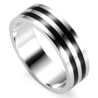 Romantic New Pattern Black Resin Wholesale Jewelry Hot 925 Sterling Silver Free Shipping Beautiful Ring R