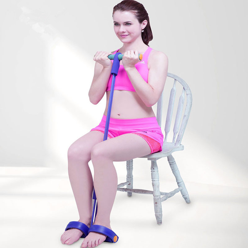 Latex Pedal Exerciser Indoor Resistance Band Body Trimmer Crossfit Rubber Elastic Band Stretch Body Building Workout