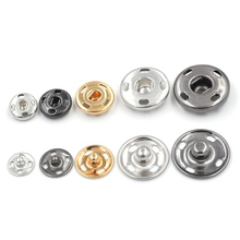 50PCS/ LOT 8mm-17mm metal Brass snaps. 4 hole dark buckle. Clothing & Accessories. Copper snap. Down buttons Leather rivets.