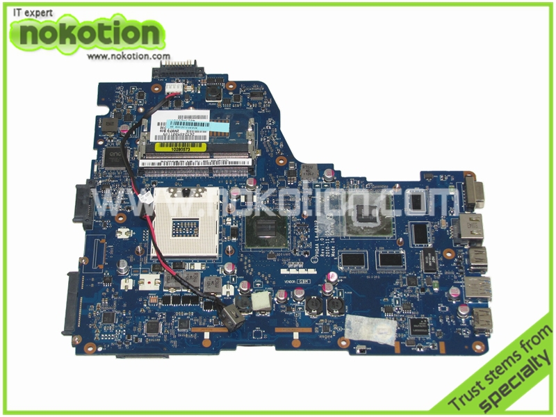 K000125710 PHQAA LA-6831P Laptop Motherboard For TOSHIBA A665 Mother Boards REV 1.0 Intel HM65 GeForce GT540M Mainboard