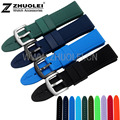 22 24mm New Mens Black & Dark blue Silicone Rubber Waterproof Sport Wrist Watch Band Strap waterproof silicone bracelet watch