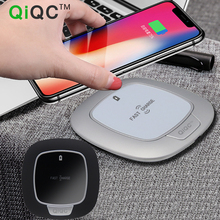 QiQC 10W Qi Wireless Charger For iPhone X 8 Plus Desktop Glass Panel Fast Charging Pad Samsung Note S8 S7 S6 Edg