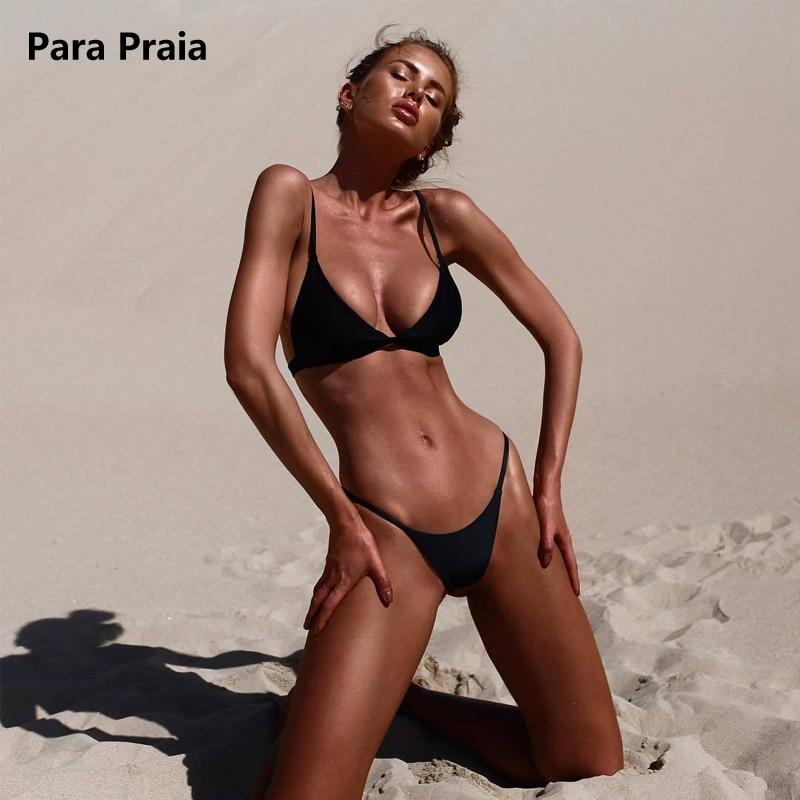 HTB137Cftf5TBuNjSspcq6znGFXaq 9 Colors Solid Bikini Set 2019 Sexy Push Up Swimwear Women Brazilian Swimsuit Low Waist Biquini Halter Two Pieces Bathing Suit