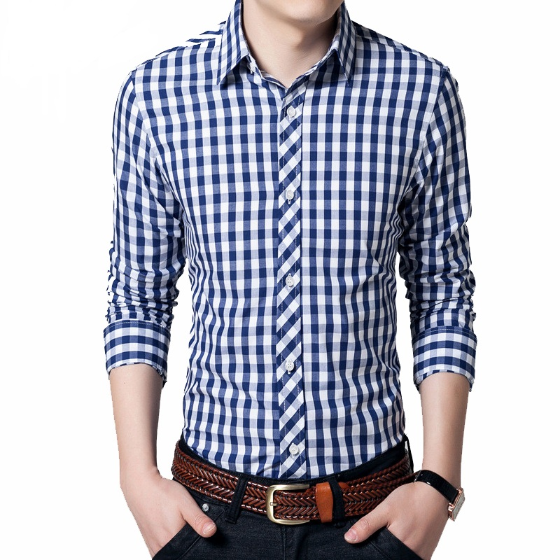 Men Checked Shirts Promotion-Shop for Promotional Men Checked ...