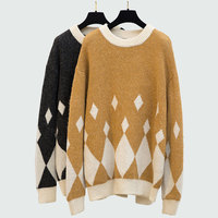 plus Size 4xl Woman Sweaters Pullovers Loose Knitted Tops 2018 Autumn Winter Fashion Long Sleeve Jumpers Christmas Sweater