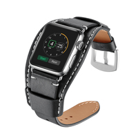 Hot Sale Genuine Leather Watchband For Apple Watch Band Series 4/3/2/1 Link Bracelet For iWatch Strap 38mm 40mm 42mm 44mm