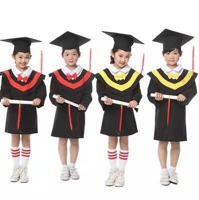 886b601d8a Primary School Children s Gown of Doctor Degree Kindergarten Academic Dress  with Hat School Uniform Graduation Ceremony 18