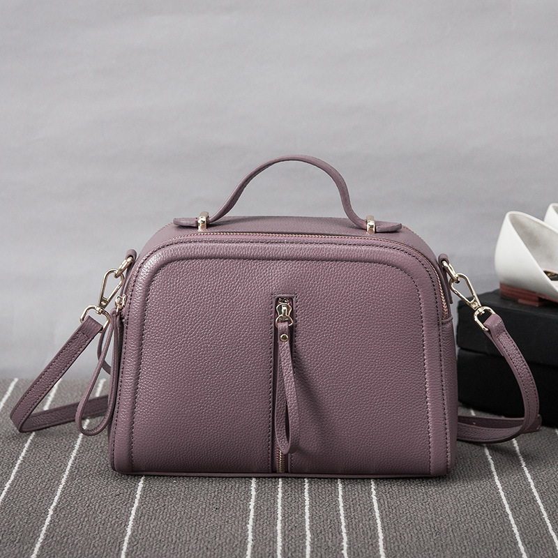 Classic Temperament Fashion Soft Genuine Leather women handbags Simple Chic women bag Small Square Crossbody Bag in Shoulder Bags from Luggage Bags