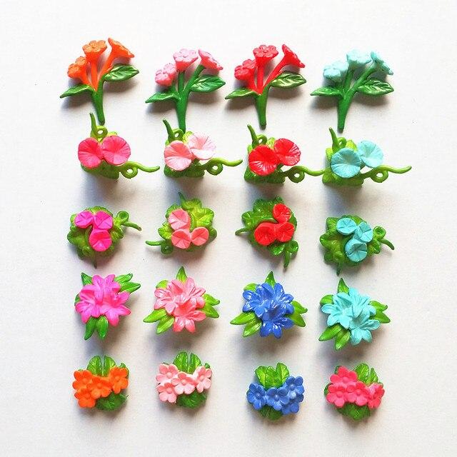 20 Pc Bunga Miniatur Bonsai Kecil Dekorasi Rumah Taman Mini Mainan