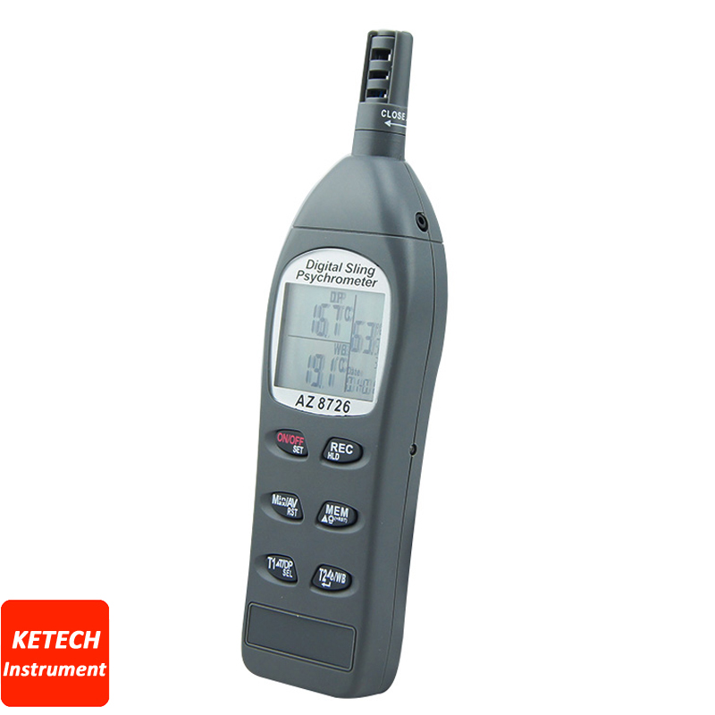 AZ8726 Temperature/Humidity/Dew Point Meter/Wet Bulb Temperature and Humidity Meter ht 86 digital thermometer hygrometer wet bulb dew point temperature meter o0s0