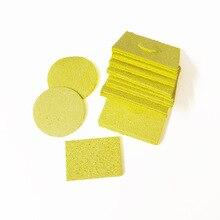 10PSC желтый Губка для припоя очиститель для электросварки паяльник паяльная станция пистолет