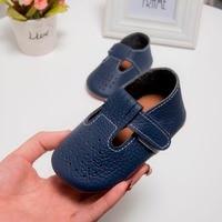 حار بيع t-شريط جوفاء زهرة حقيقية جلد الطفل الأخفاف أحذية لينة سوليد الطفل بنات أحذية الأولى ووكر ماري جين