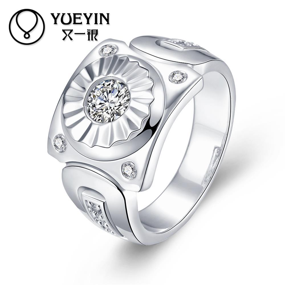 watch styles 2016 new R736-8 Silver plated new design finger ring for lady men wedding partys gifts