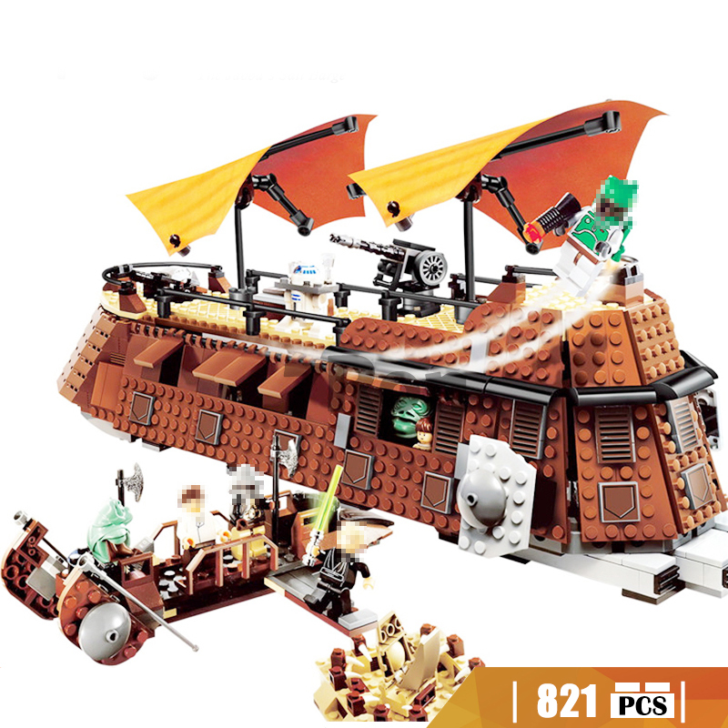 05090 821pcs Star-War Series The Jabba's Sail Barge Building Block Compatible with Lego 6210 Brick toys hobbies for children