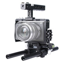 YELANGU YLG0905A Handle Video Camera Cage Steadicam Stabilizer for Sony A6000/A6300/A6500