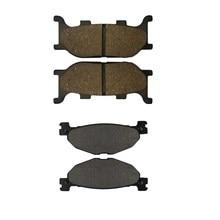 Motorcycle Front and Rear Brake Pads for YAMAHA YP400 Majesty 2005-2011 / MBK YP 400 Skylliner 2004 Black Brake Disc Pad