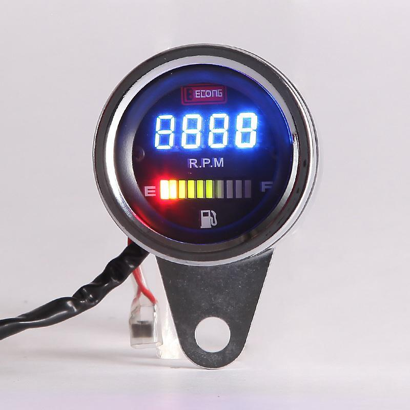 marine tach wiring diagram for double light switch fuel gauge r1 motorcycle tachometer led digital display 2 in 1 bike