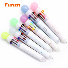 Funzn 0.5 mm 10 colors creative ballpoint pens for writing Chancellery simple office school supplies ball pen luxury nurses gift for toshiba l450 l450d l455 laptop motherboard gl40 ddr3 k000093580 la 5822p 100% tested