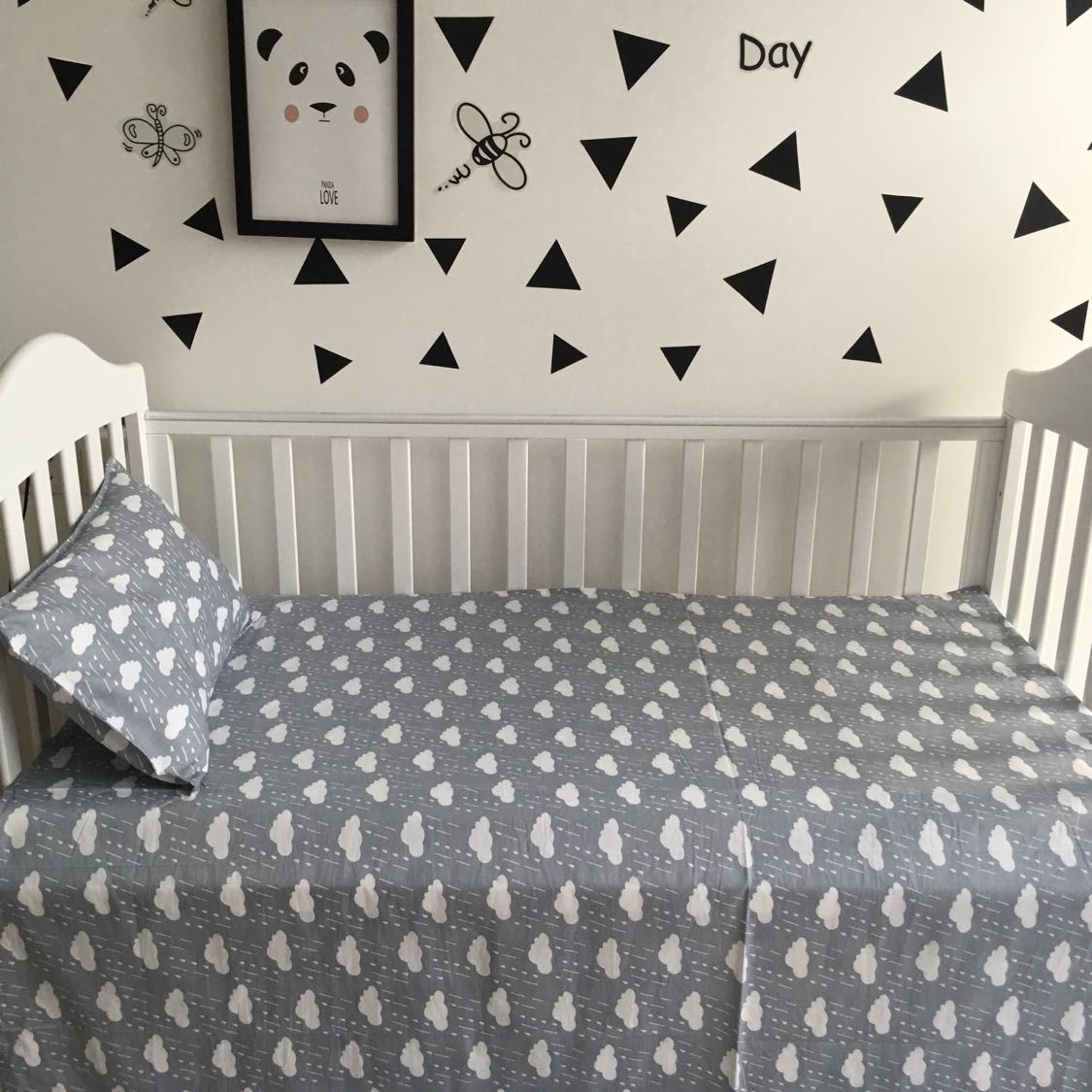 Baby bed sheet pattern - 110 150 Cm Cotton Baby Bed Sheets Printed Fitted Crib Cot Sheet Baby Without Stimulating