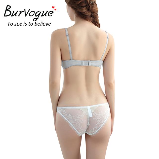 Burvogue Women Sexy Plus Size Lace Bra Sets Lingerie Panties Set Adjustable Bra Underwear Summer Bra Sets Lace Bra and Panty Set